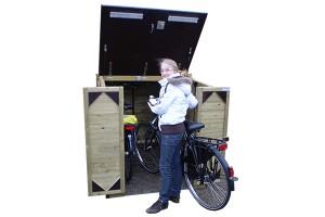 Handige fietsopbergsysteem voor buiten